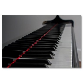 Αφίσα (μαύρο, λευκό, άσπρο, πιάνο)